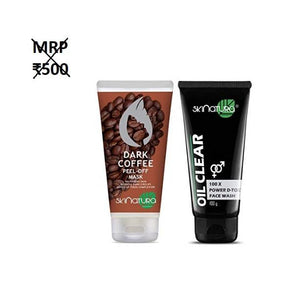 Skinatura Dark Coffee Peel-off Mask & Charcoal Oil Control Face Wash - kartlifestyle.com