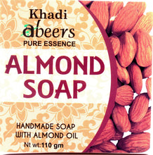 Abeers Khadi Pure Essence ALMOND SOAP - shopwellnessonline.com - 1