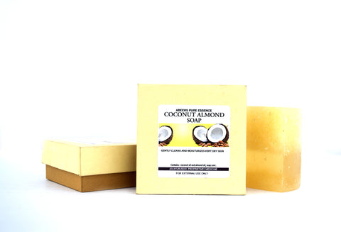 Abeers Khadi COCONUT ALMOND SOAP for Dry Skin - shopwellnessonline.com