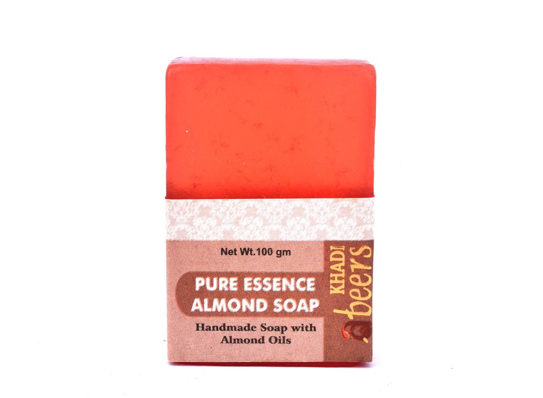 Abeers Khadi Pure Essence ALMOND SOAP - shopwellnessonline.com - 2