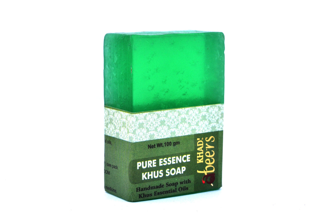 Abeers Khadi Pure essence KHUS SOAP - shopwellnessonline.com - 2