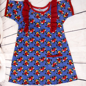 Girls Blue Bloomer Dress