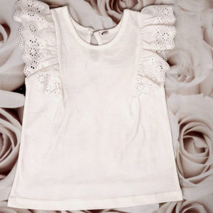 Lacey White Top - kartlifestyle.com