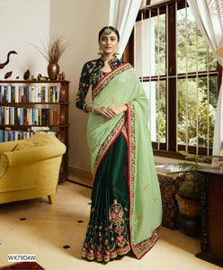 Fancy Crepe & Silk Saree - kartlifestyle.com