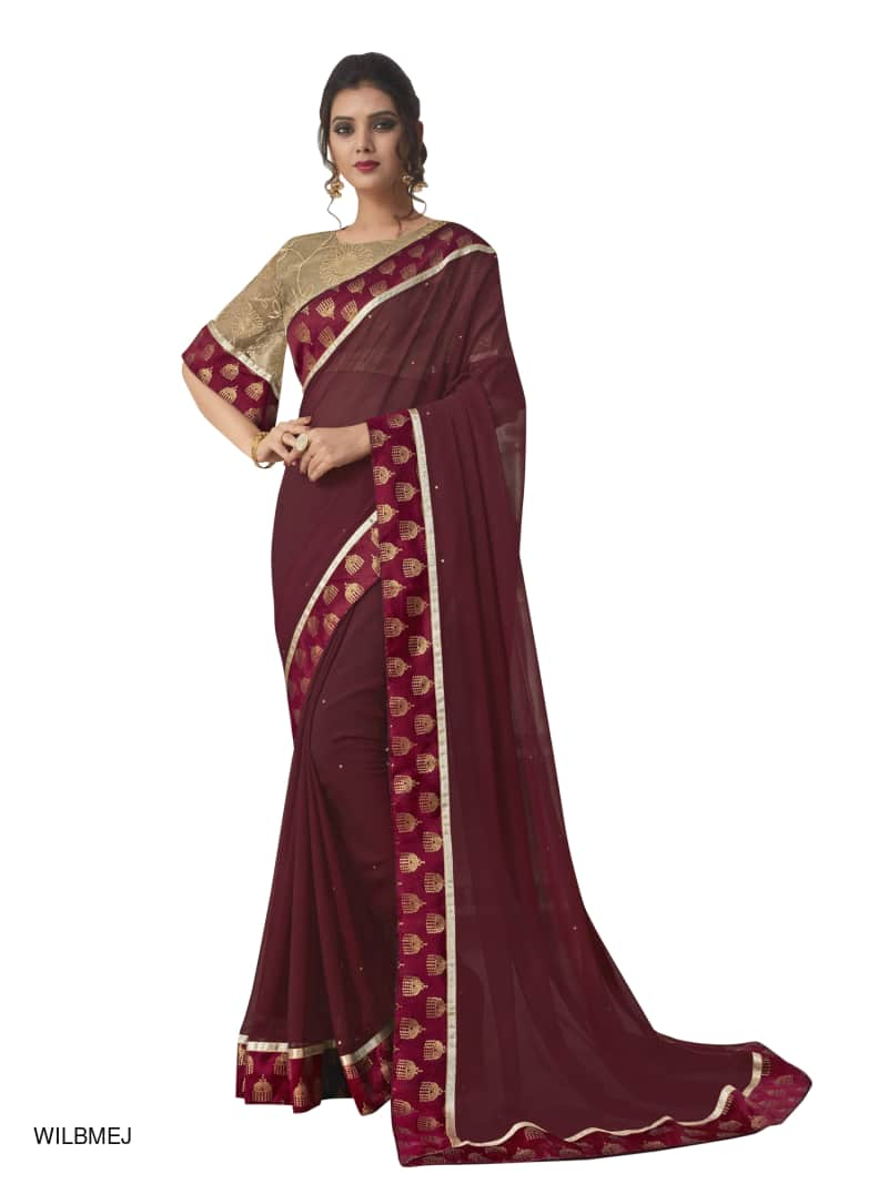 Fancy Woven Saree with Blouse - kartlifestyle.com