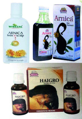 Wheezal Homoeopathic HAIR GROWTH Kit - shopwellnessonline.com