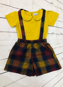 Baby girl mustard top and divided skirt - kartlifestyle.com