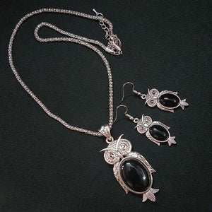 Twinkling Antique Oxidised Silver Chain Pendant Necklace - kartlifestyle.com