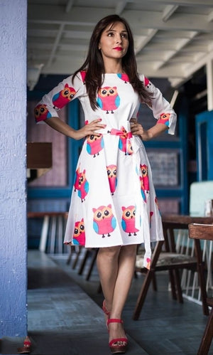 Mahira Attractive Cotton Printed Dress - kartlifestyle.com