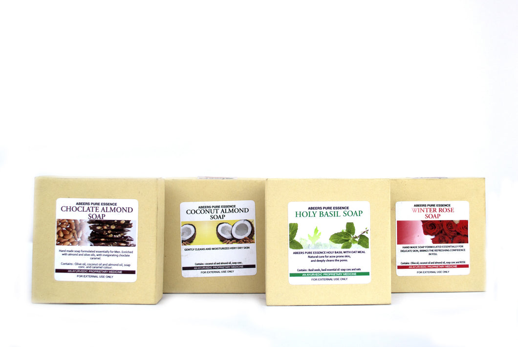 Abeers Khadi Luxury Herbal Soap Pack - shopwellnessonline.com