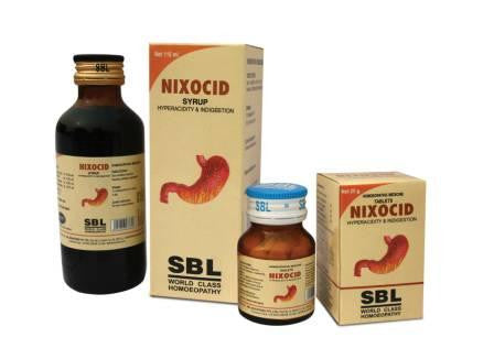 SBL NIXOCID Tablets & Syrups (Relieves Acidity) - shopwellnessonline.com - 1