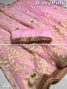 Net Saree With Blouse Piece - kartlifestyle.com