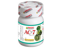Bakson's AC#7 TABLETS for Mild Constipation - shopwellnessonline.com