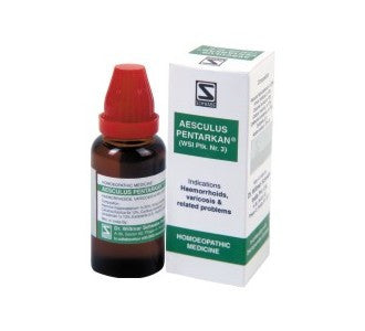 Schwabe's AESCULUS PENTARKAN for piles etc. - shopwellnessonline.com