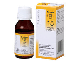 Bakson's Homoeopathic B15 (Female Drops) - shopwellnessonline.com