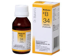Bakson's B34 (Tumour Drops) - shopwellnessonline.com