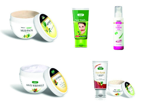 Bakson's Sunny Herbals ANTI WRINKLE FACIAL KIT - shopwellnessonline.com