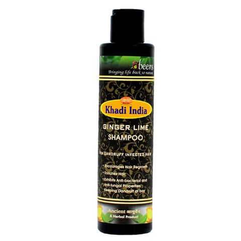Abeers Khadi GINGER LIME SHAMPOO FOR DANDRUFF - shopwellnessonline.com