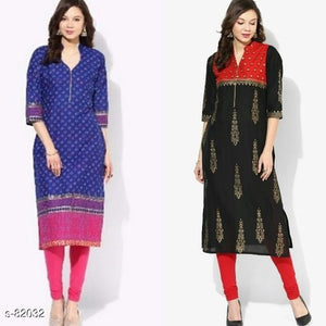 Stylish Cotton Kurtis ( Combo of2)