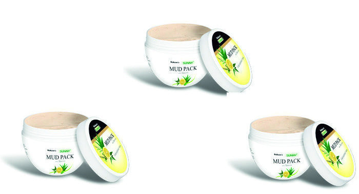 Bakson MUD PACK (Aloevera, neem, tulsi & lemon) - shopwellnessonline.com - 2