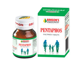 Bakson's PENTAPHOS (FIVE PHOS) TABLETS - shopwellnessonline.com