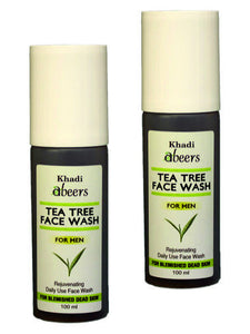 ABEERS TEA TREE FACE WASH for Men - shopwellnessonline.com - 2