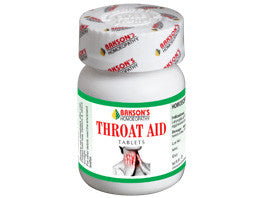 Bakson's THROAT AID TABLETS (Sore Throat/Tonsils) - shopwellnessonline.com
