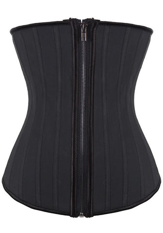 25 Steel Boned Latex Zipper Waist Trainer