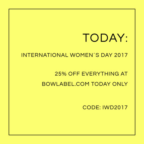 BOW LABEL JEWELRY STOCKHOLM INTERNATIONAL WOMENS DAY 25% OFF AT BOWLABEL.COM