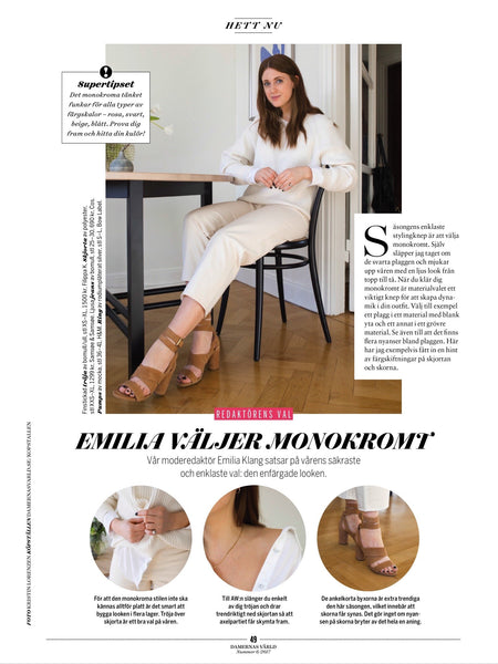 Damernas Världs fashion editor in Épée pinky ring