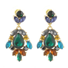 Holiday Glass Stone Earrings
