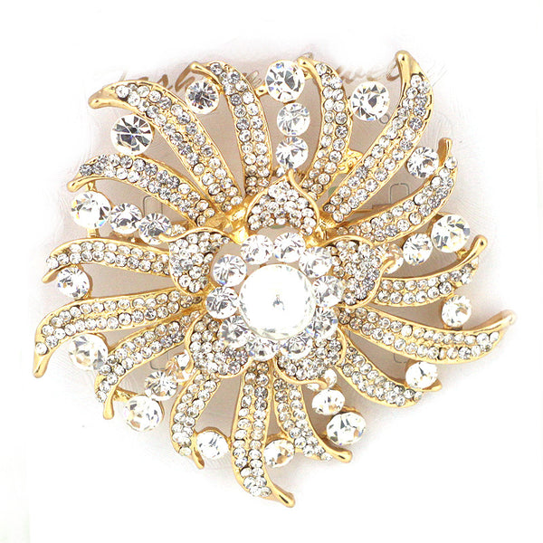 Super Flower Glass Pin Brooch