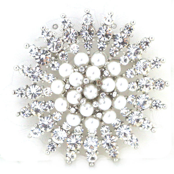 Snowflake Glass Pin Brooch
