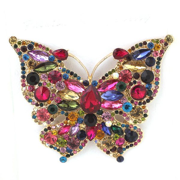 Super Butterfly Glass Pin Brooch