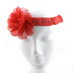 Polka Flower Headband