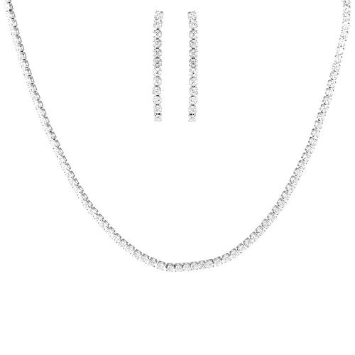 Cubic Zirconia Paved Chain Short Necklace