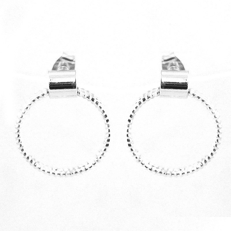 Texture Stacked Halo Earrings