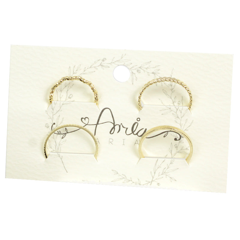 4 Rings Filigree Multi Package Set