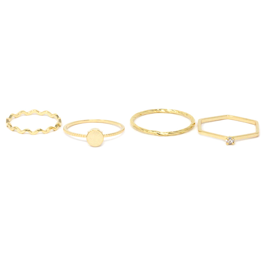 Disc With Delicate Metal 4 Rings set