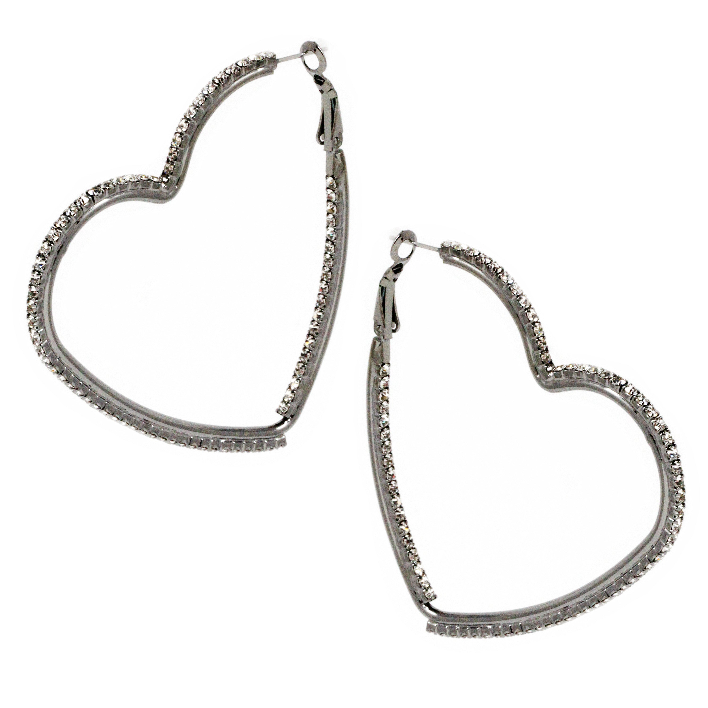 gallery silvertone love in heart shape jacobs jewelry by earrings shaped normal product silver lyst marc stud