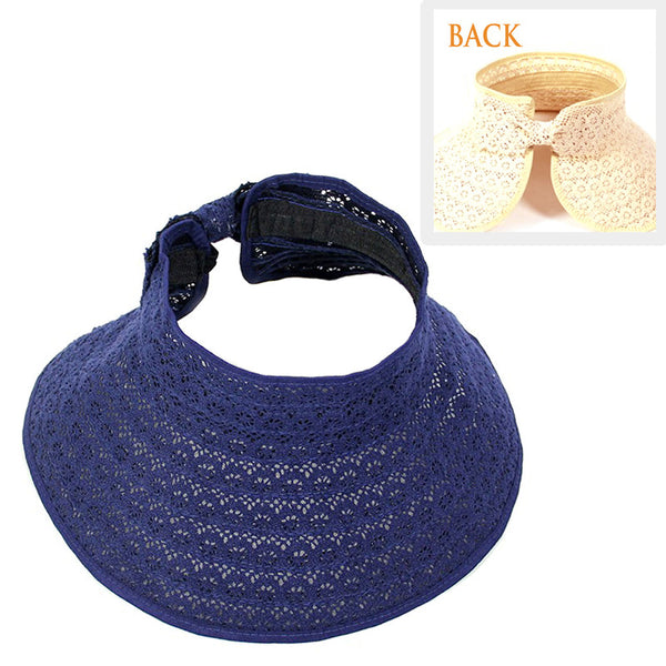 Roll up straw Picnic lace hat