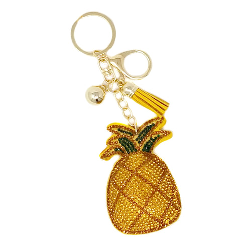 Pineapple Rhinestone Tape Keychain