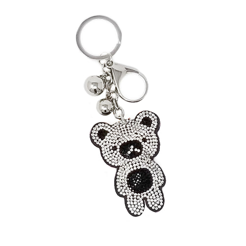 Teddy Bear Rhinestone Tape Keychain