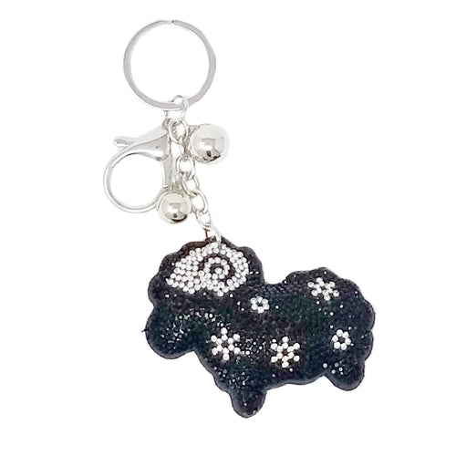 Sheep Rhinestone Tape Keychain