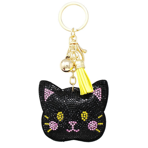 Kitty Rhinestone Tape Keychain