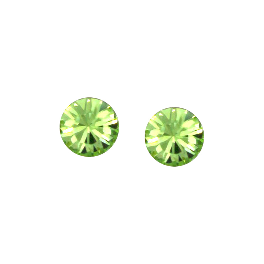 Cubic Zirconia Stud Earrings (7 mm)