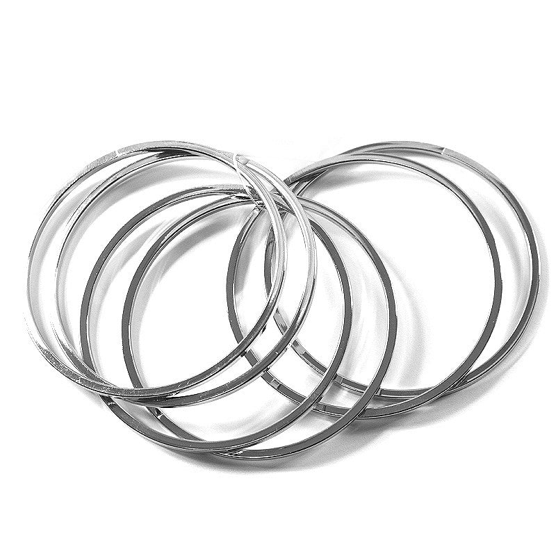 6PCS Simple Bangle Bracelet Set