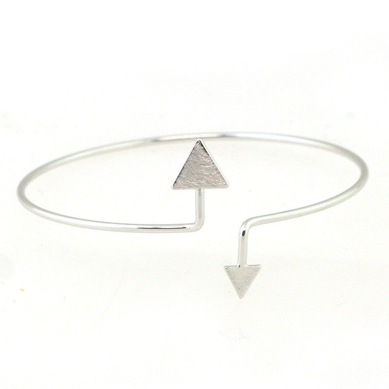 Double Triangle Latch Bangle Bracelet