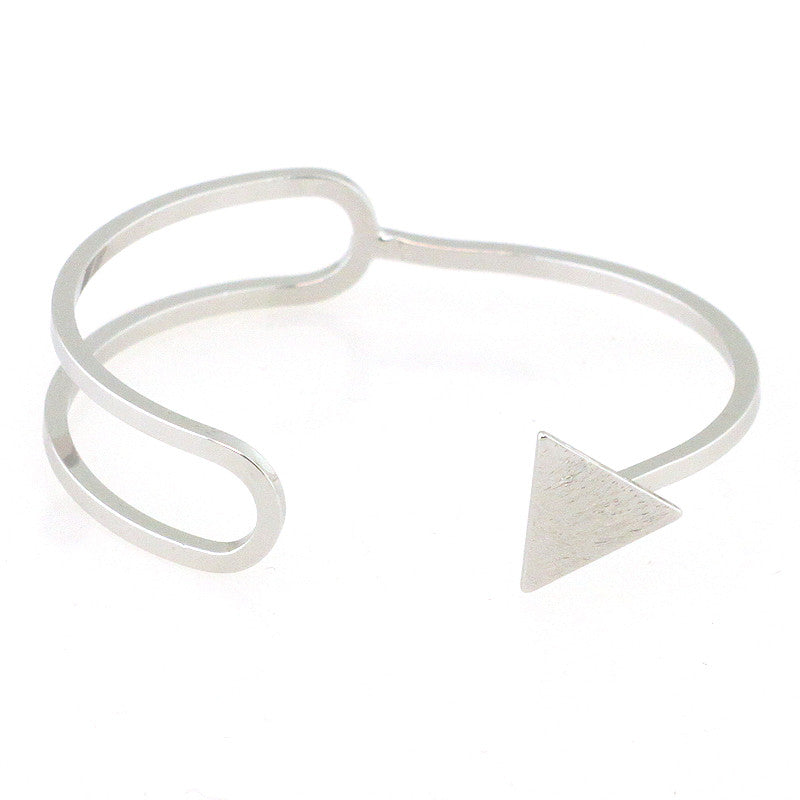 Cut Out Triangle Edge Cuff Bracelet