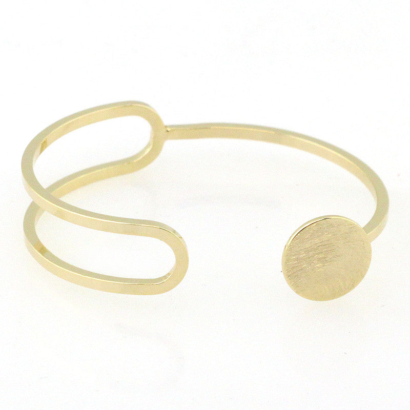 Cut Out Circle Edge Cuff Bracelet